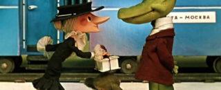 Детская песня Голубой вагон из мультфильма Чебурашка и крокодил Гена