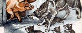 Сказка Свинья и волк читать онлайн