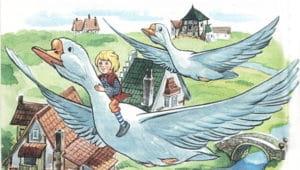 Слушать аудиосказку Чудесное путешествие Нильса с дикими гусями