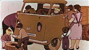 Слушать аудиосказку Папа, мама, бабушка, восемь детей и грузовик