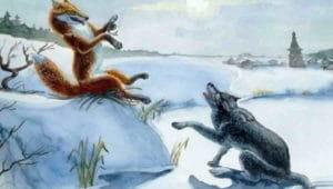 Слушать аудиосказку Лисичка-сестричка и волк
