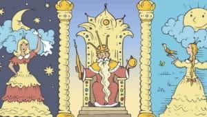 Слушать аудиосказку Про славного царя Гороха