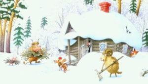 Слушать аудиосказку Зимовье зверей