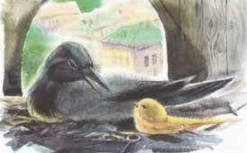 Слушать аудиосказку Про Воронушку-чёрную головушку и жёлтую птичку Канарейку