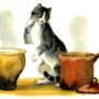 Слушать аудиосказку О Молочке, овсяной Кашке и сером котишке Мурке