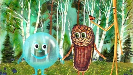 Сказка Пузырь, Соломинка и Лапоть читать и слушать онлайн