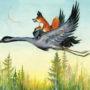 Слушать аудиосказку Как лиса училась летать