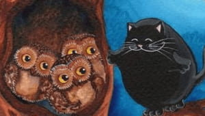 Слушать аудиосказку Сова и кот